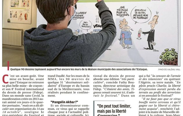 Dessins de presse de l'Estaque - Le virus? Ils s'en moquent!