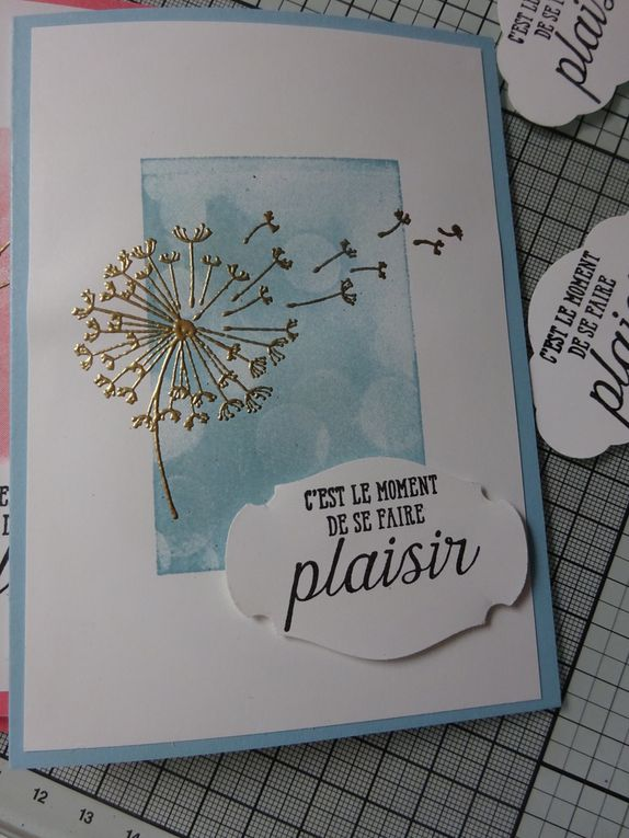 [Stampin'Up!] carte simple avec la technique de l'embossage à chaud