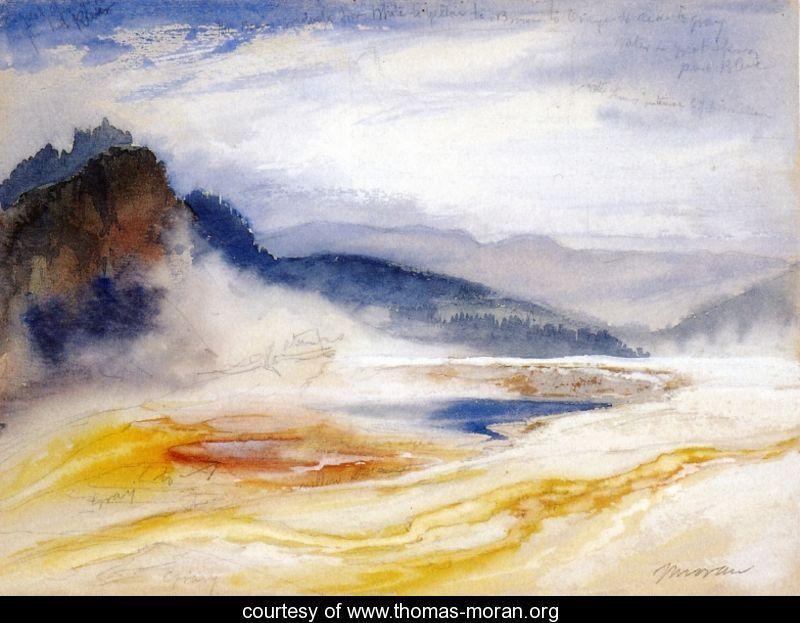 Le parc national du Yellowstone abrite la majorité des geysers actifs de la planète. Trois conditions sont nécessaires à leur bon fonctionnement : chaleur, fournie par le point chaud sous-jacent; eau, provenant des précipitations; et un système