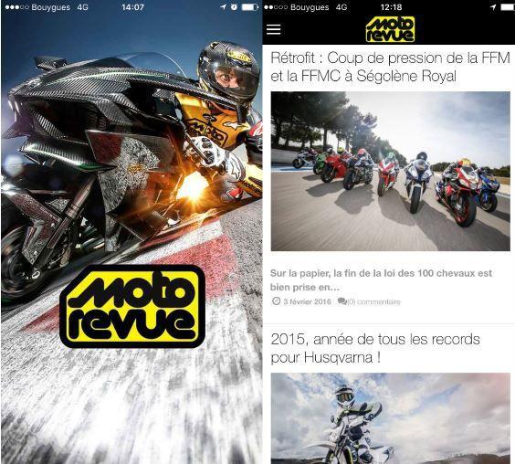 Média / mobile :  nouvelle appli pour Moto Revue