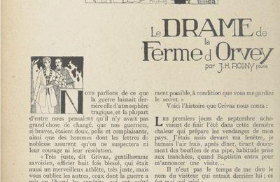 """J.-H. Rosny Jeune """"Le Drame de la ferme d'Orvey"""" in Lectures pour (1920)"""