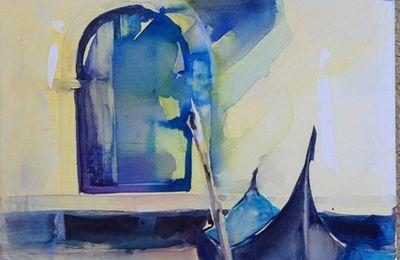Aquarelle sur toile Venise Isabelle Seruch Capouillez