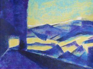 Variations autour du même paysage : peintures de Françoise Fourcault (cliquez pour agrandir)