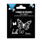 FDD31716 : DIE HELLO BUTTERFLY FEE DU SCRAP