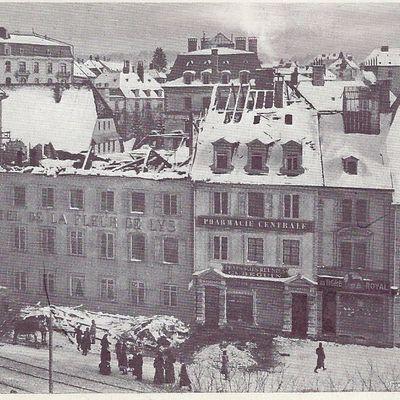 La Chaux-de-Fonds - Après l'Incendie de l'Hôtel de la Fleur de Lys le 13 mars 1911
