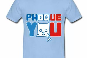T shirt bleu c homme Phoque you