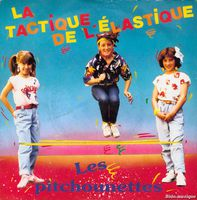 les pitchounettes, un groupe de 3 jeunes filles qui évoque le célèbre thème de l'élastique sur le label AB KID