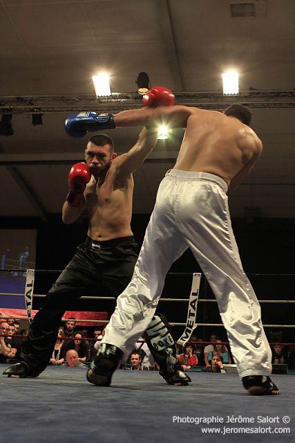 Boxe in défi XIII Finale du tournoi des -86Kg (4x2) Jean-Luc BENOIT vs Mickael LOPEZ