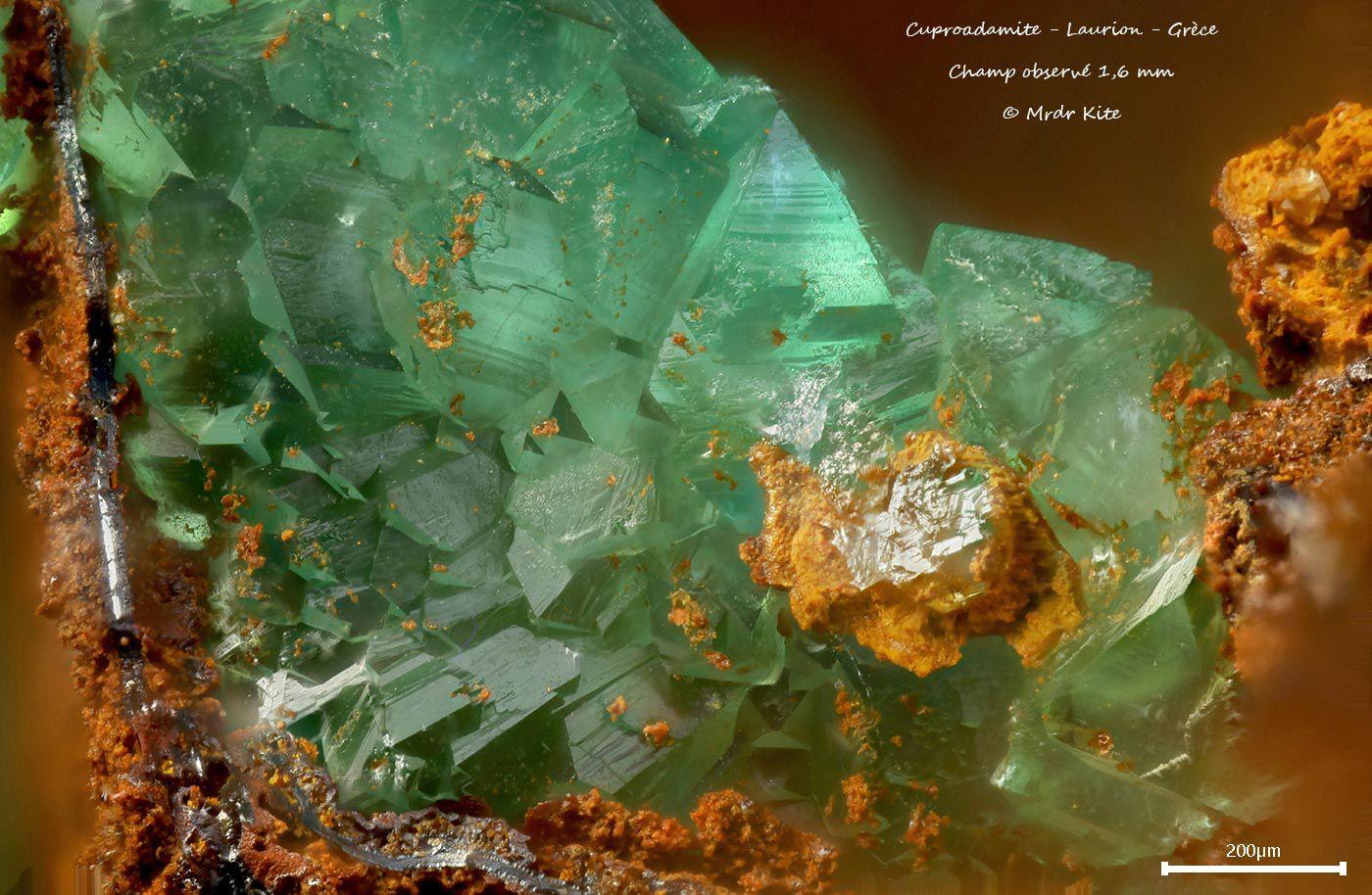 Cuproadamite ou Zincolivénite