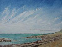 Ile de Noirmoutier  23x33  Aquarelle  Août - septembre 2020 Bhavsar