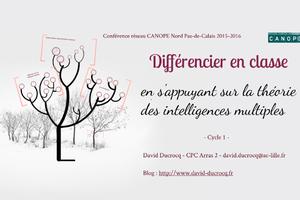 Diaporama conférence sur les intelligences multiples par David Ducrocq