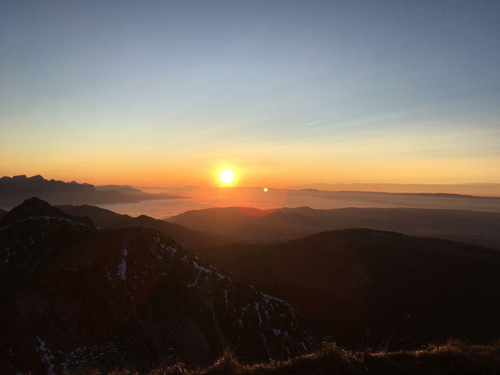 31 octobre 2020 : Coucher de soleil au Moléson