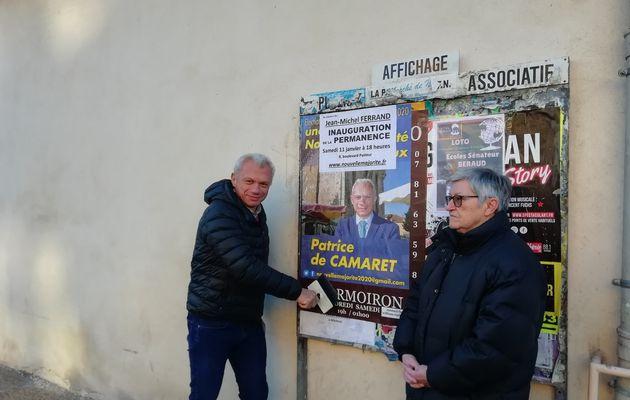 Une permanence de campagne à portée de la mairie