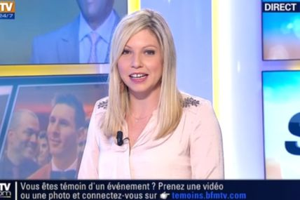 2014 01 14 - CAROLE COATSALIOU - BFM TV - LES SPORTS