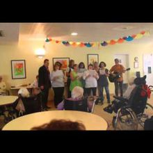 St Andre les Alpes : Fête de la Musique à la maison de retraite , Les Carlines