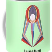 Lunation Text Coffee Mug for Sale by Michael Bellon