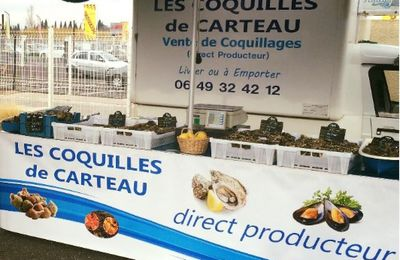 Coquillages de Carteau à nîmes,