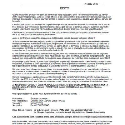 Le Journal du Comité de Quartier de Villeverte à Nîmes, Lou Réboussié, est en Ligne