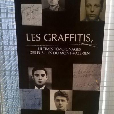 """exposition temporaire itinérante """"Les graffitis, ultimes témoignages du Mont-Valérien"""""""