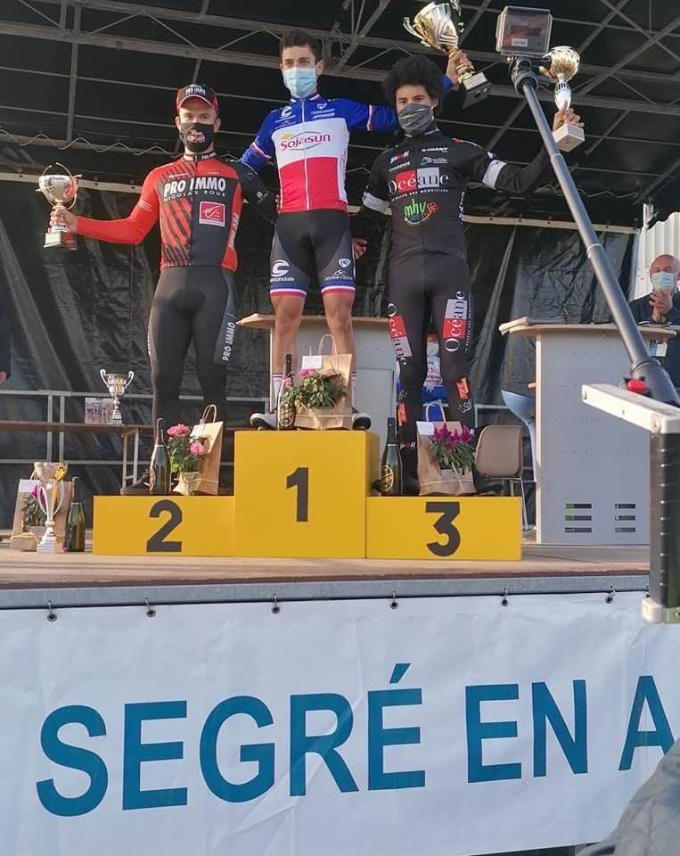 Le podium de Nantes-Segré  (Photo Team Pro Immo)