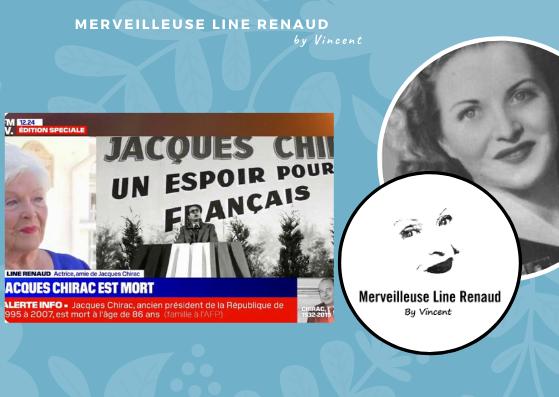"""PRESSE WEB: Line Renaud évoque ses derniers souvenirs avec Jacques Chirac: """" Je ne savais pas s'il me reconnaissait ou pas """""""