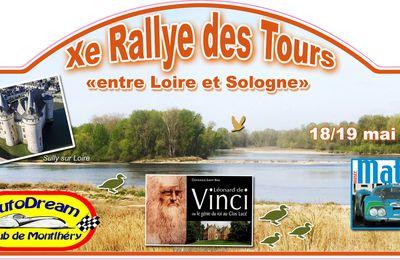 """CR. Xe Rallye des Tours """"entre Loire et Sologne"""" 18/19 mai 2019"""