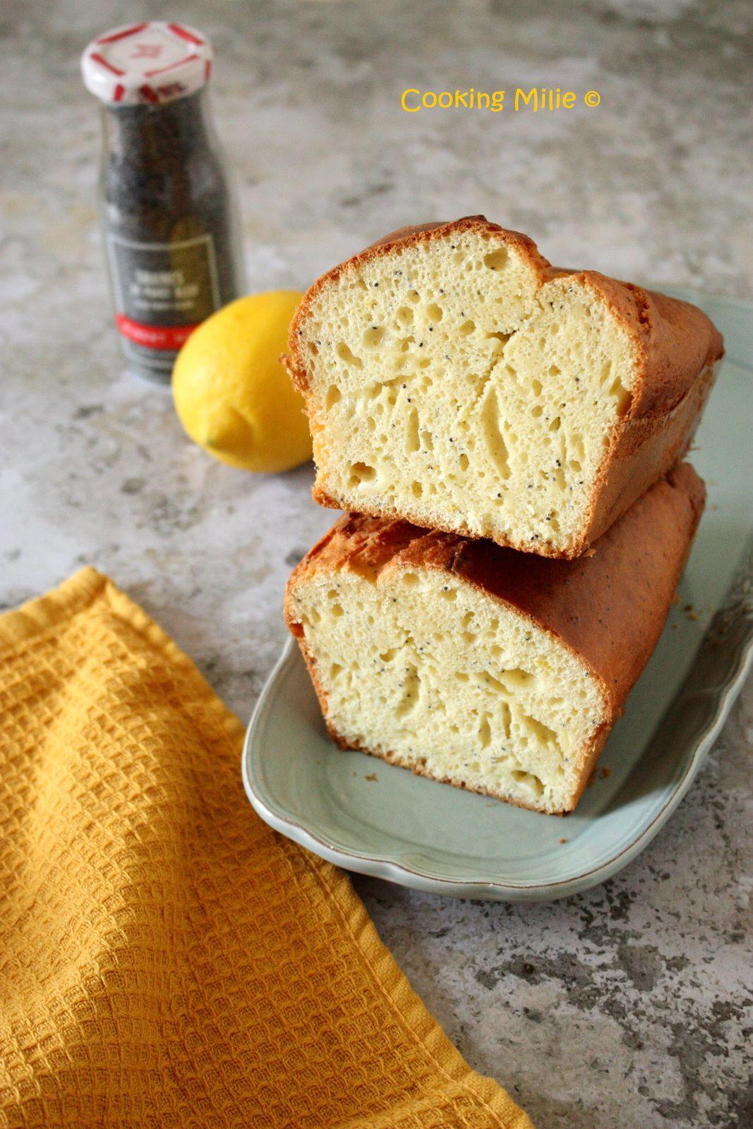 Cake au mascarpone, citron et graines de pavot