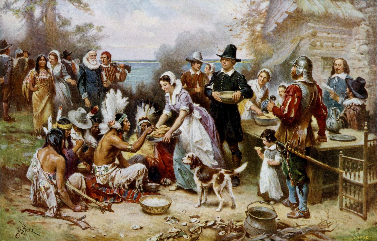 le premier Thanksgiving de l'histoire de l'Amérique.