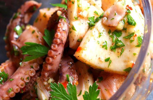 Salade de poulpe à la Provençale