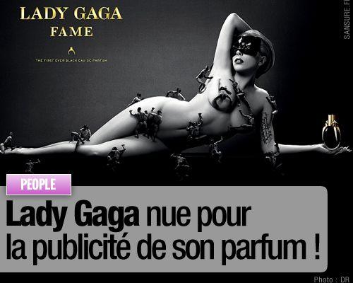 Lady Gaga nue pour la publicité de son parfum !