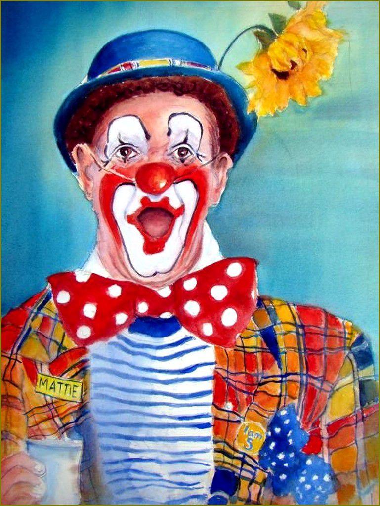 Clowns en peinture -  Myra Evans