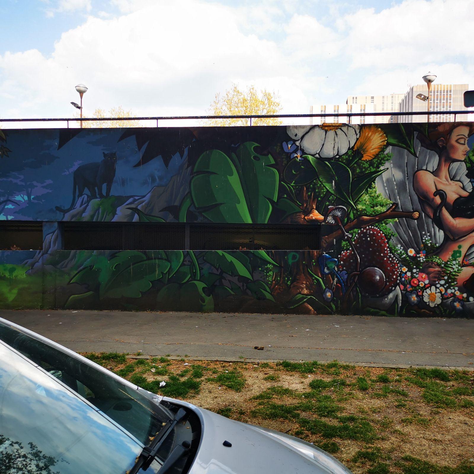 Street art autour de la porte de Saint-Ouen