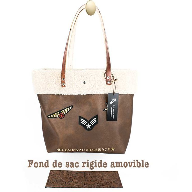 "SAC CABAS "" collection FLORIDA "" style aviateur"