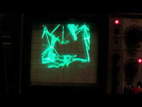 Quake sur un oscilloscope