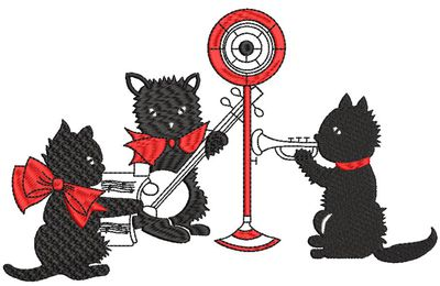BRODERIE ORCHESTRE CHATS