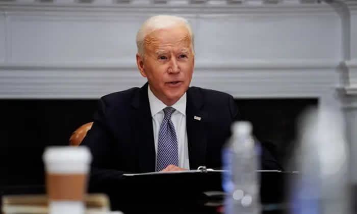 Joe Biden at the White House on 12 April. Photograph: Getty Images