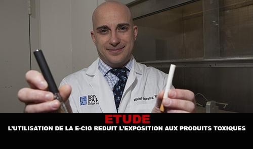 L'utilisation de l'E-cigarette réduit l'exposition aux produits toxiques