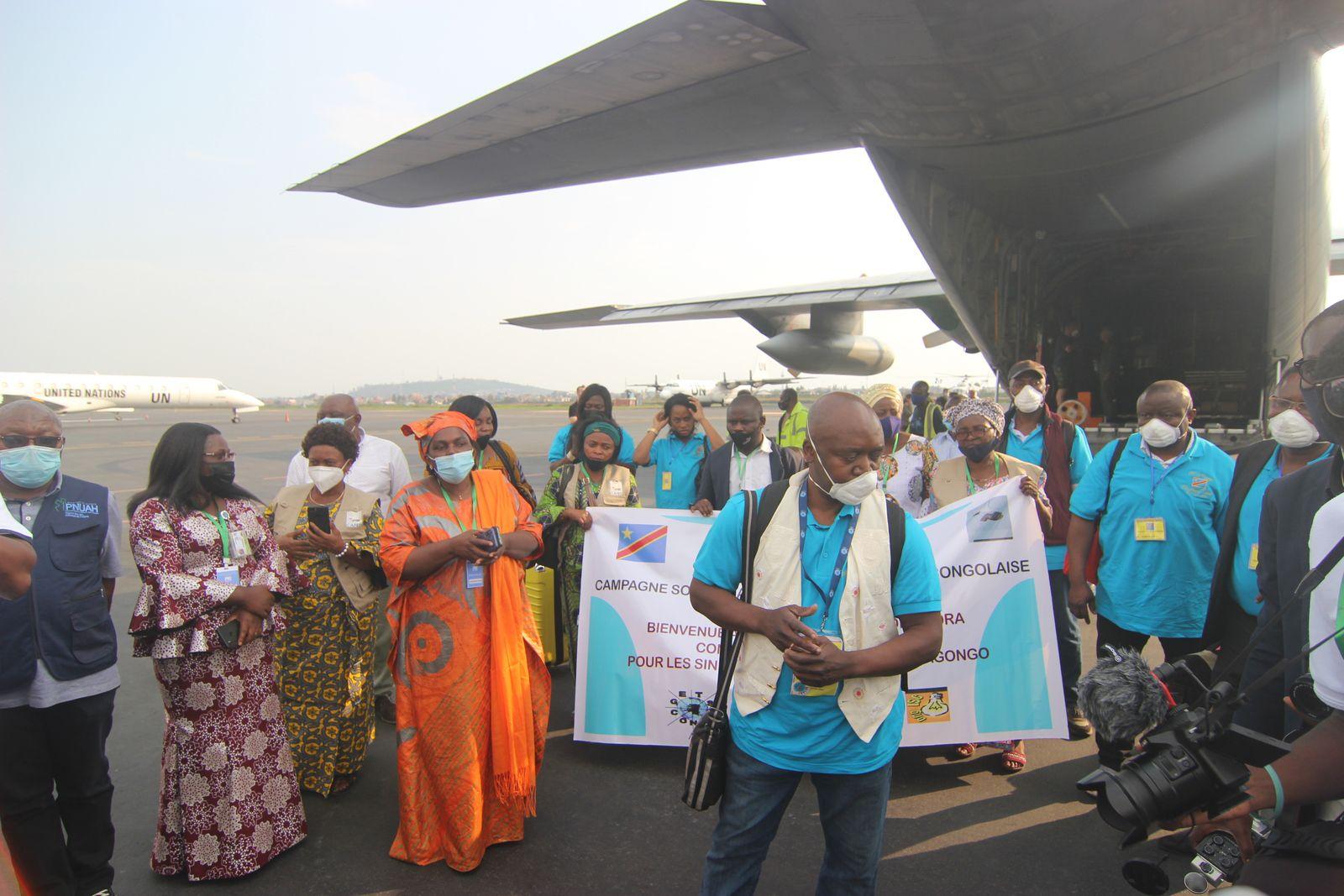 Vidéo. Arrivée à Goma depuis Bruxelles, des membres de SOS Goma 2021