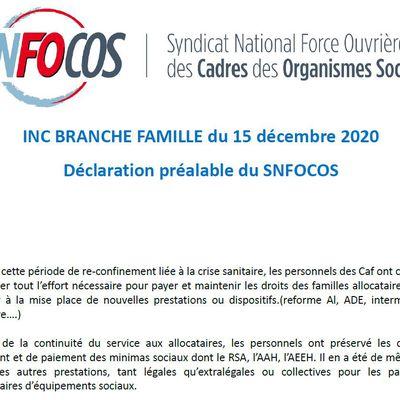 INC Famille Déclaration snFOcos & questions / réponses