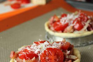 Tartelette oignon lardon &co et pâte brisée de faignante