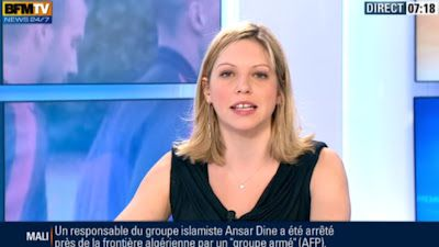 2013 02 04 - CAROLE COATSALIOU - BFM TV - PREMIERE EDITION 'SPORTS' @07H15