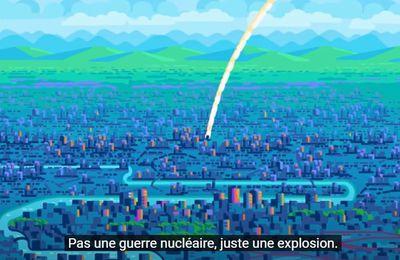 Dans une ville touchée par une bombe atomique