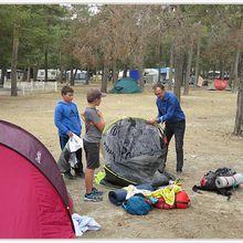 Saint André les Alpes : Les élèves de 6ème au camping