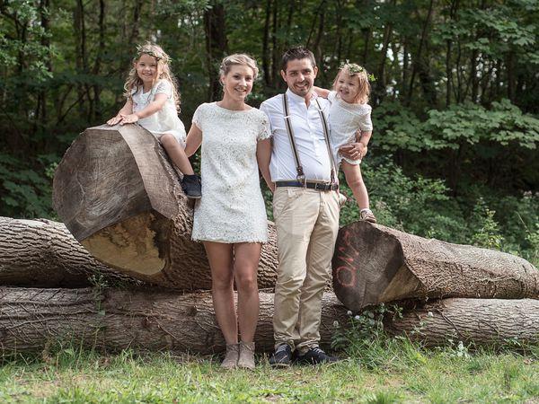 Fanny et Florian Séance Save the Date en famille