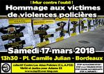 [Bordeaux - 17 mars 2018] Journée internationale contre les violences policières
