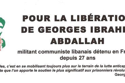 Le Collectif Georges Abdallah sera présent à la fête de l'Humanité les 16,17,18 septembre 2011