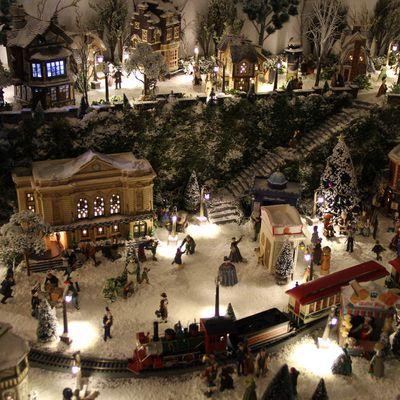 Mon village de Noël 2015 sous la neige...
