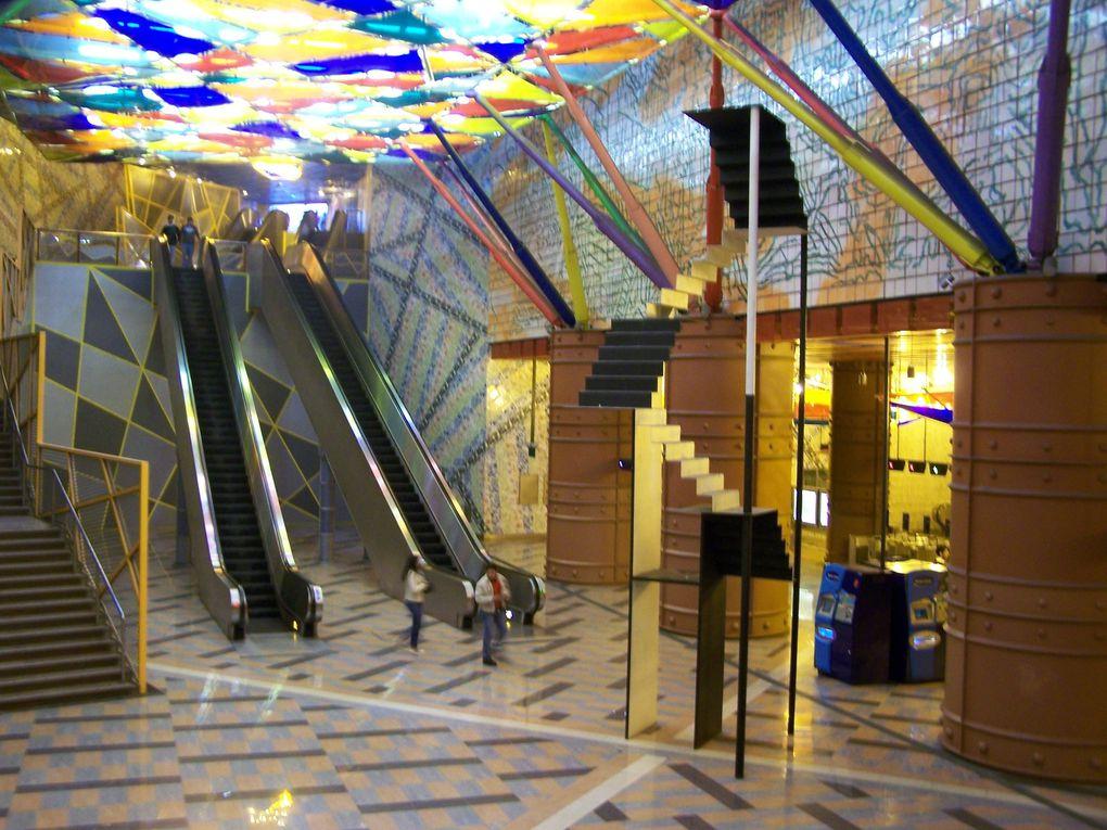 Le métro de Lisbonne est également un musée d'art contemporain.