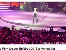 Liane Foly en live chez les Enfoirés 2015 à Montpellier