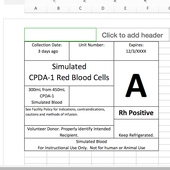 Blood Transfusion Documents and Excel Labels for Simulation in Healthcare - Includes Template